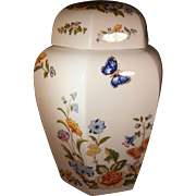 "Vintage Aynsley Ginger Jar in the coveted ""Cottage Garden"" Pattern"