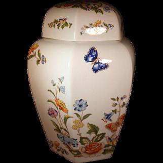 "Vintage Aynsley Ginger Jar in the coveted ""Cottage Garden"" Pattern"
