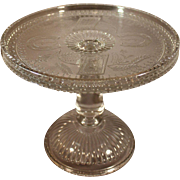 Vintage 1881 Adams EAPG Glass Horseshoe and Anchor Cake Stand