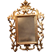 "Antique Brass 5"" x 7"" Rococo Standing Picture Frame"
