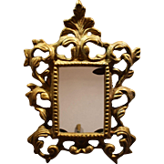 """Antique Brass 3"""" x 5"""" Rococo Standing Picture Frame"""