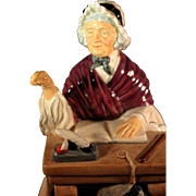 "Wonderful old Royal Doulton figurine, ""The School Marm"""
