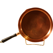 Revere Special Edition Solid Copper Skillet with Wood Handle