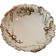R.S. Germany Porcelain Capodiamonte Iris Pattern Fruit Bowl