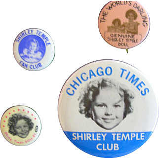 Shirley Temple Pin Group