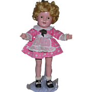 """1930's Composition Shirley Temple 13"""" Littlest Rebel"""