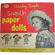Shirley Temple Snap On Paper Dolls