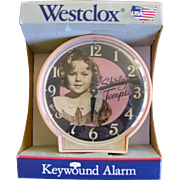 Shirley Temple Wind Up Clock 1970