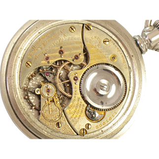Incredible TWO TONE HIGH GRADE 21J Illinois SANGAMO Silver Antique Pocket Watch