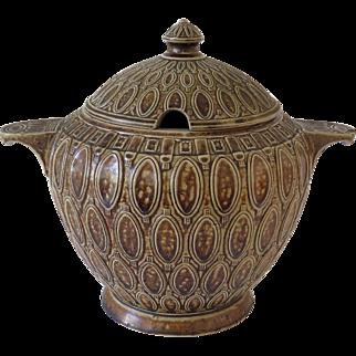 Wick Werke Jugendstil stoneware serving bowl, ca. 1910