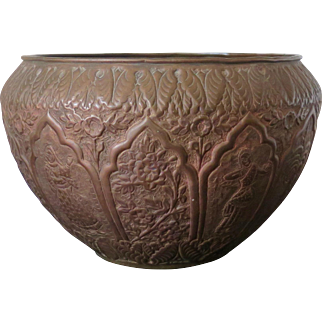 Brown bronze Indian pot, 19th to 20th Century