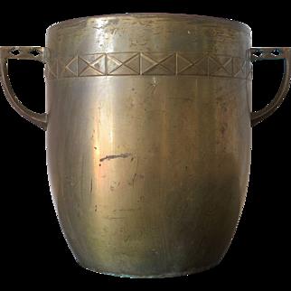 Art Deco brass bucket or wine cooler, ca. 1920