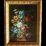 Oil on canvas, Flemish area, 19th Century