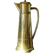 Jugendstil brass pitcher by Gebrüder Bing (1900)