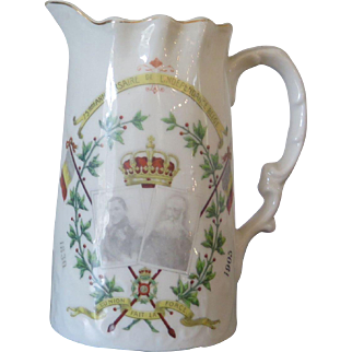 Patriotic jug for the 75th anniversary of Belgian independence, Belgium 1905