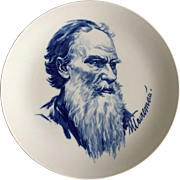 Meissen plate with Lev Tolstoj, XX Century
