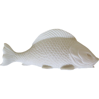 Bisque carp vase by Scheibe-Alsbach, early 1900s