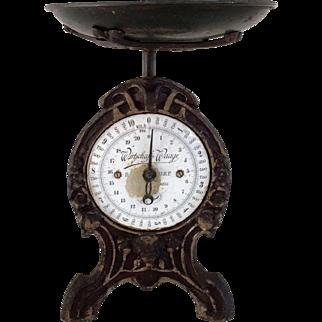 Art Nouveau Cast Iron Scale, WirdschaftsWaage German Jugendstil Scale