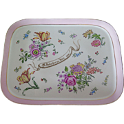 Hand Painted French Porcelain Tray, 1893