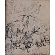 Two ink drawings by Johann Fischbach (1797-1871)
