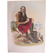Hand Colored Clan Costume Print, Robert McIan 1847