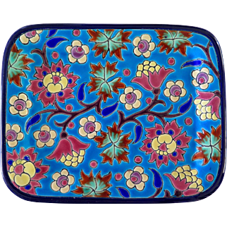 Longwy French Faience Vide Poche Dish, 1930s