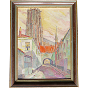 Small oil painting, Flemish Area, early 1900s