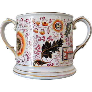 Ashworth Bros Twin Handled Loving Cup, Imari Pattern, Staffordshire 1870s