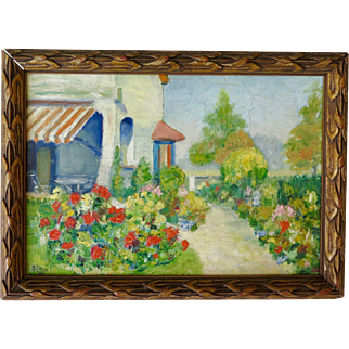 Oil on Board by A. Colaux, Signed Dated and Framed (1923)