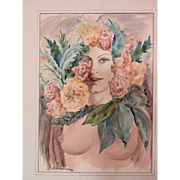 Original Watercolor by Jules Gustave LEMPEREUR (1902-1985)