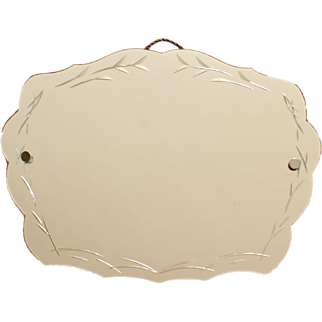 French Art Deco Bevelled Wall Mirror, France, First Half XX Century