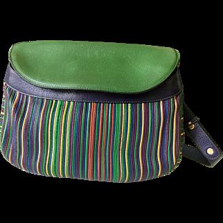 Vintage Delvaux Bag, Multicolor Leather, 1990s