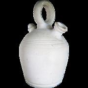 Berber clay jug, unusually white