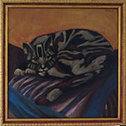 Oil on Canvas by George van Herwaarde (Dutch, 1938 - 2011), 1978