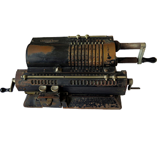 Antique Original-Odhner Pin Wheel Mechanical Calculator, 1917-30s
