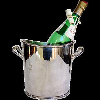 French Hotel Silver Champagne Bucket, Clardige Hotel Paris, 1920 to 1940