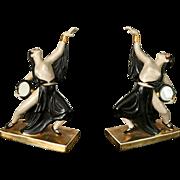 Pair of erotic ROBJ Paris dancer figures