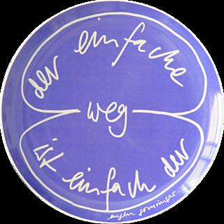 Limited edition artist plate by Rosenthal: Eugen Gomringer