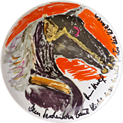 --- RESERVED --- Limited edition artist plate by Rosenthal: Hildegard Knef