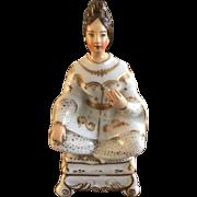 19th Century porcelain de Paris Ottoman woman signed JP