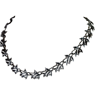 One-of-a-kind Sterling Silver Necklace Hand-Crafted by Thomas T.