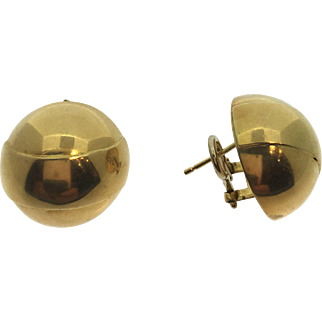 Gorgeous 14kt Yellow Gold Round Earrings, Pre-Owned