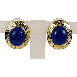 Lady 14k Lapis Lazuli Earrings