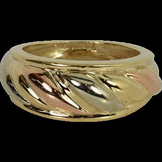14k Yellow/White/Rose Gold Ring