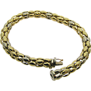 14 Karat Yellow/ White Gold Bracelet Estate Jewelry Pre Owned