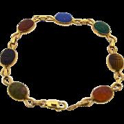 14 Karat Yellow Scarab Bracelet Pre Owned