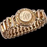 Vintage Gold Filled Expansion Bracelet Locket Compact c1940's Sweetheart WWII Era