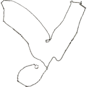 Vintage Art Deco Sterling Silver Lorgnette Chain Y Pendant Watch Necklace Fancy Link 5.2g