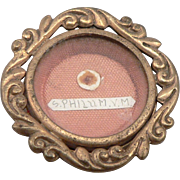 Vintage St. Saint Philum Philomena Reliquary RELIC Theca Pendant Virgin Martyr