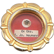 Vintage Saint John Neumann Reliquary Relic Theca Pendant S. Jo. Neumann